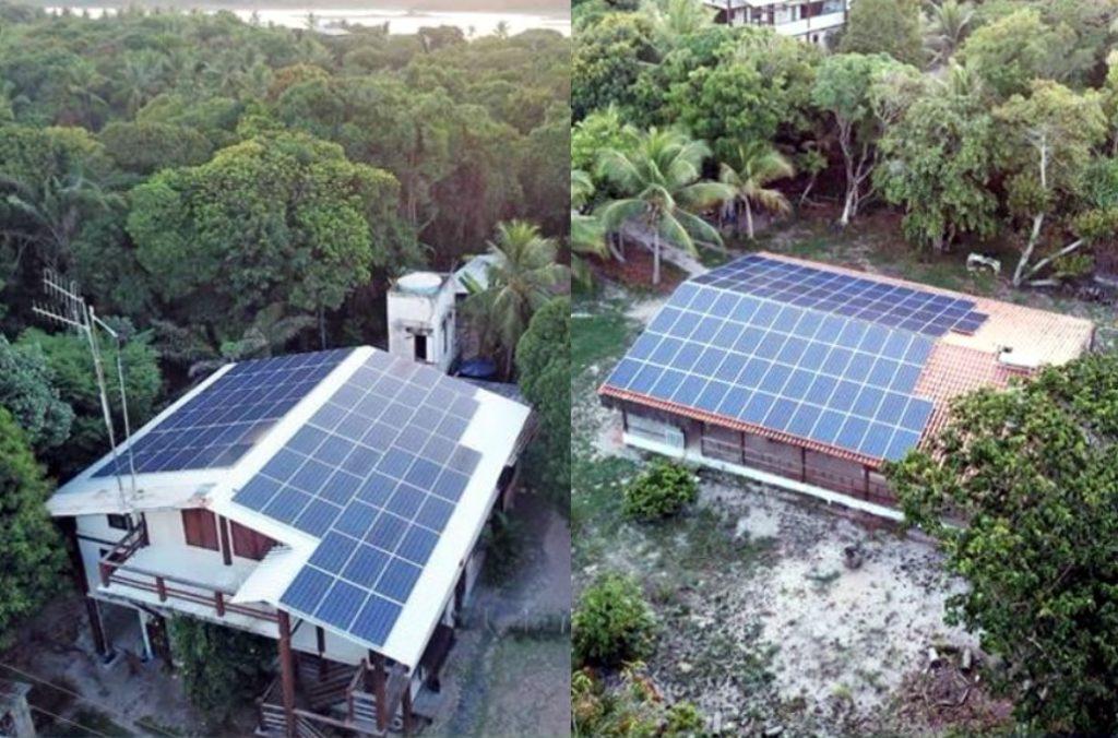 Pousada Lagoa do Cassange 180 de placas solares Sustentabilidade na prática